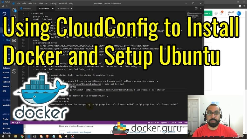 Install Docker on Ubuntu on Digital Ocean Using CloudConfig | Docker